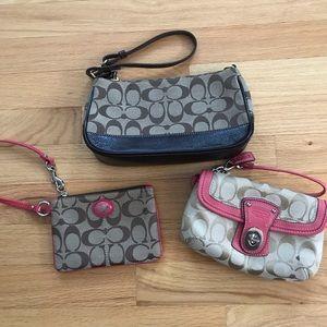 COACH purse and wristlets!